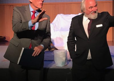 Major Chuck Lear with Roy Steinberg